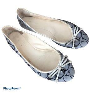 COACH Poppy Monogram Darling Ballet Flats
